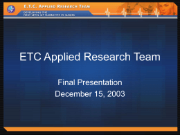 ETC Applied Research Team