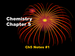 Chemistry Chapter 5 - Manistique Area Schools