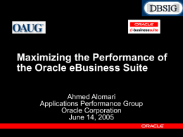 Maximizing the Performance of the Oracle E