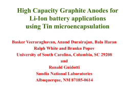 Development of superior Graphite anodes for Li