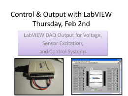 Control & Output with LabVIEW