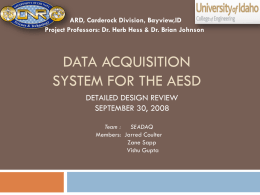 Data Acquisition System for the AESD
