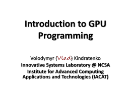 Getting started with GPU programming