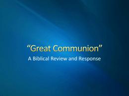 "Great Communion"" - The Good Teacher"
