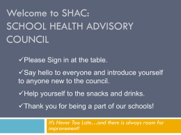 What Are School Health Advisory Councils (SHACS)?