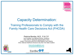 Capacity Determination - Compassion and Support