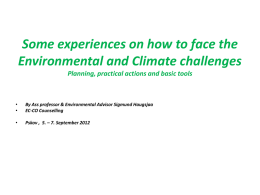 Our Environmental and Climate Challenge