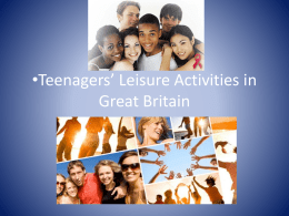 Teenagers' Entertainment