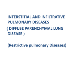 INTERSTITIAL AND INFILTRATIVE PULMONARY DISEASES …