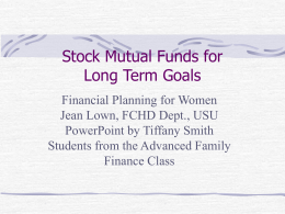 Mutual Funds - Welcome to Utah State University