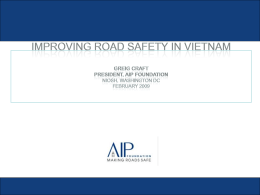 A Road Safety Vaccine: Helmets in Vietnam
