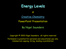 Creative Chemistry - Energy Levels for GCSE
