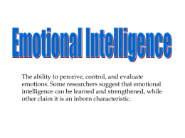 Emotional Intellegence