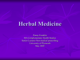 Herbal Medicine - SWONS: Home Page