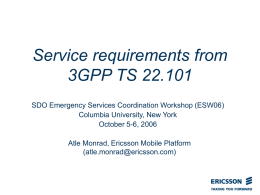 Service requirements from 3GPP TS 22.101