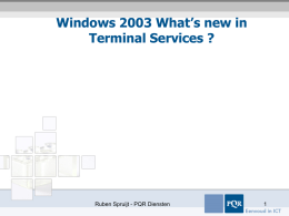 Windows 2003 What's new in TS