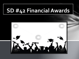 SD #42 Financial Awards