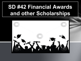 SD #42 Financial Awards and other Scholarships