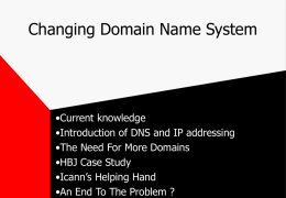 Changing Domain Name System