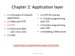 Chapter 2: Application layer - Southern Adventist University