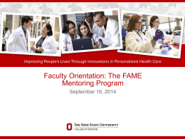 Mentorship - The Ohio State University College of Medicine