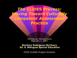 The CLiDES Process: Moving Toward Culturally Competnet