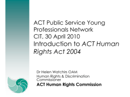 An Introduction to the Human Rights Act