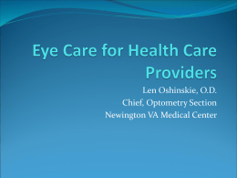 Eye Care for Health Care Providers