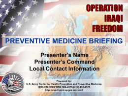 PM Briefing Enduring Freedom V2.03 - NH-TEMS