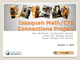 Issaquah Math/CTE Connections Project
