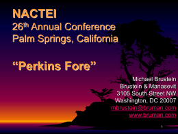 NACTEI 26th Annual Conference Palm Springs, California
