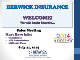 Berwick Insurance Group NMA / FMO
