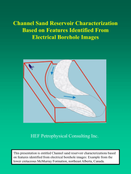 Channel Sand Reservoir Characterization Based on Features