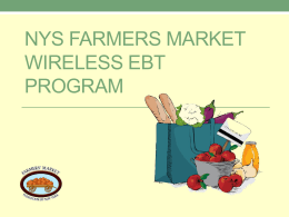 NYS Farmers Market Wireless EBT Program
