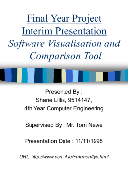 Final Year Project Interim Presentation Software