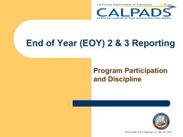 EOY 2-3 Training Presentation