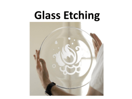 Glass Etching - New Paltz Middle School