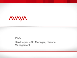 Avaya Networking Overview - The Evergreen State College