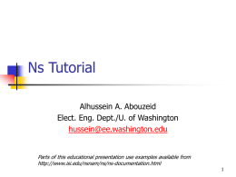 ns-2 tutorial for EE566