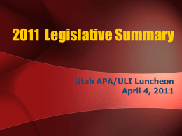 2008 Legislative Summary