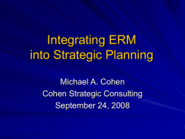 Integrating ERM into Strategic Planning