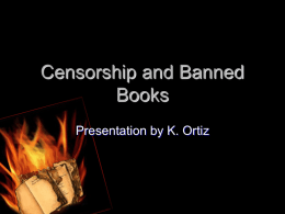 Censorship and Banned Books - Bath Central School District