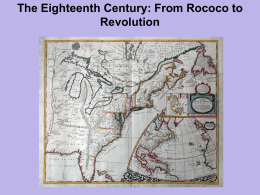Chapter 16 - 18th Century - From Rococo to Revolution