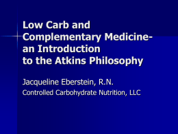 Low Carb and Complementary Medicine