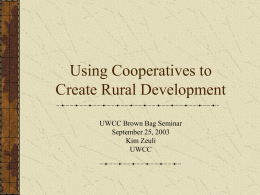 Non-agricultural Cooperatives in Rural Development