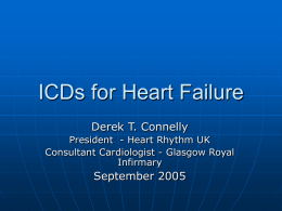 Who needs an ICD? - British Cardiovascular Society
