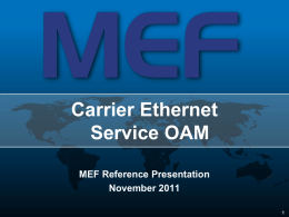 MEF Global Interconnect Briefing