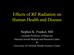 Biological and Health Effects of RF Radiation