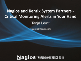 Nagios and Kentix System Partners
