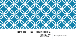 New National Curriculum Literacy